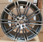 20 inch Gunmetal Mach Wheels Staggered Rims Fit Porsche Panamera S Hybrid GTS