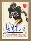 Steelers John Stallworth 2015 Flawless Auto Autograph Red Ruby Greats HOF 15
