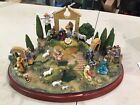 THE NATIVITY DANBURY MINT DIORAMA CHRISTMAS SCENE FIGURINE LARGE DISPLAY SET
