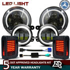 7 LED Halo Headlights 4 Fog Halo Lamp Tail Lights for Jeep Wrangler JK Rubicon