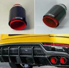 1Pcs Red Paint Stainless Steel Exhaust Tip Muffler Pipe Full Glossy Carbon Fiber