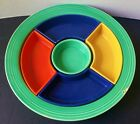 Vintage Fiesta Homer Laughlin Fiestaware Relish Tray - All Inserts- 4 Colors
