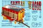 Build a 1:16 Scale model Circus CANVAS WAGON Full Size printed plans