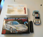 Vintage P. 959 Turbo Radio Controlled 1:24 Scale Car In Box Works, Great Power!