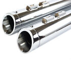 Sharkroad 95 16 Chrome 4 Slip On Mufflers For Harley Touring Tapered Cut Tip