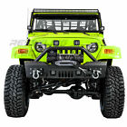 Rock Crawler Stubby Front Bumper+Winch Plate+2x LED for 97 06 Jeep Wrangler TJ
