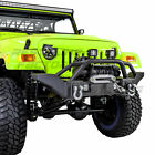 Rock Crawler X HD Front Bumper+Winch Plate+2x D rings for 97 06 Jeep Wrangler TJ