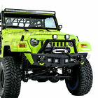Rock Crawler Stubby Front Bumper+Winch Plate+4x LED for 97 06 Jeep Wrangler TJ