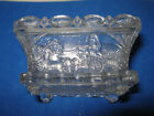 LACY PRESSED GLASS CHARIOT OPEN SALT by BOSTON  SANDWICH NEAL CT 1a