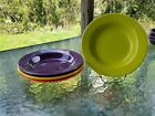 SET 4 RIM SOUP SMALL PASTA BOWL mulberry daffodil poppy lemongrass FIESTA 9