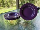 SET 4 RIM SOUP SMALL PASTA BOWL mulberry purple FIESTA 9