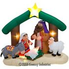 Gemmy 2007 Airblown 7 Ft Inflatable Christmas Nativity Scene Lights Up