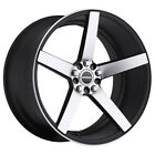 4 Strada Perfetto 17x75 4x100 4x45 +35mm Black Machined Wheels Rims 17 Inch