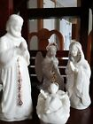 Lenox China Jewels Nativity Set 19 Pieces with Large Wood Creche