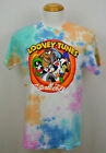 Looney Tunes Thats All Folks T shirt Bugs  Friends Graphic Tee Blotched NWT