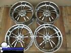 21 FORTUNE FS5 CHROME WHEELS RIMS 21x9 21x105 5x120 LEXUS LS LS460 32 36 601