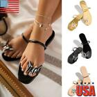 Women Flat Strappy Sandals Ladies Gladiator Summer Holiday Beach Shoes Size 5 10