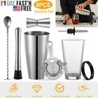 8Pc Cocktail Shaker Set Stainless Steel Bartender Kit Professional Mixology Tool