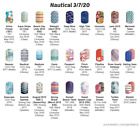 Nautical Tropical  Vacation Graphic designs Jamberry nail wraps HALF sheets