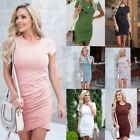 Womens Sexy Solid Bodycon Short Dress Evening Party Cocktail Club Mini Dresses