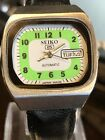 VINTAGE SEIKO 5 AUTOMATIC TV-Watch  6309-720A  HAU, 1980er Neues Band  Day/Date