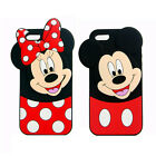 Cute Disney Mickey Minnie Mouse Polka Dot Soft Case Cover For iPhone 7 8 XS Max