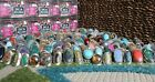 Peru Handcrafted Mixed Ring Lot of 10 Adjustable Sizing Glass Stone Wholesale