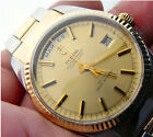 1961 Rolex Tudor Oyster Prince Date Day 18k Gold Bezel Band SS 33MM 7019/3