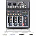 4 Channel Mini Audio Mixer with USB DJ Sound Mixing Console For Karaoke KTV
