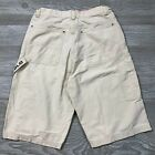 VTG Polo Jeans Ralph Lauren Khaki Carpenter Shorts Spell Out Youth 18 A91