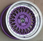4SET JNC JNC031 16X8 4x100 PURPLE WHEELS MIATA CIVIC INTEGRA SCION XB DEL SOL