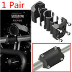 1 Pair Motorcycle Engine Bumper Frame Touch Point Guard Blocks with Screw Kit