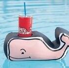 Vineyard Vines Pink Whale Inflatable Floating Drink Holder for Pool New