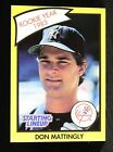 1990 Kenner Starting Lineup Cards #48B Don Mattingly RY 48 rookie year NMMT MINT
