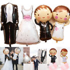Wedding Day Dress Suit Bride Groom Engagement Anniversary Marriage Foil Balloons
