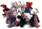 Ty Beanie Babies Patriotic Bears USA Spangle Glory Patriot Liberty Righty Lefty