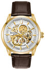Bulova Men's Sutton Automatic Exhibition Dial Gold-Tone 43mm Watch 97A138