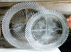Anchor Hocking/Miss America/Clear Glass/Grill Plate/Round/Divided Relish Dish/ 2