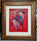 Arbe Sophisticated Original Painting on Plexi signed with Cert of Auth
