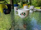 christmas JUMBO CUP white NEW HOMER LAUGHLIN holly and ribbon FIESTA 18 OZ. htf