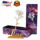 US Galaxy Rose Flower Valentines Day Lovers Gift Romantic Crystal Rose WithBox