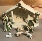 Hawthorne Village Irish Nativity Creche 8 pc set