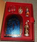WATERFORD HOLIDAY HEIRLOOMS NATIVITY CHRISTMAS ORNAMENTS GLASS BACKDROP