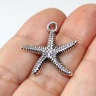 Beach Starfish Charms Antique Silver Tone 6 charms in one lot