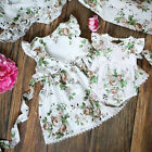 US Toddler Kids Baby Girl Clothes Sister Matching Floral Romper Dress Outfit