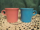 Fiesta Ware Retired PEACOCK & ROSE  Ring Handle/Tom & Jerry Mugs (Set of 2)