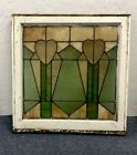 Hearts Design Antique Arts And crafts Stained Glass Window