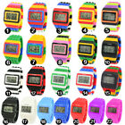 SHHORS Multicolor Constructor Digital LCD Backlight Sport Wrist Watch Waterproof