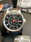 Fortis Spacematic Watch Automatic Black Dial with Red Hands Swiss Made 623.10.