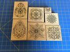 Lot of 7 Holly Berry House Rubber Stamps Variety of Images
